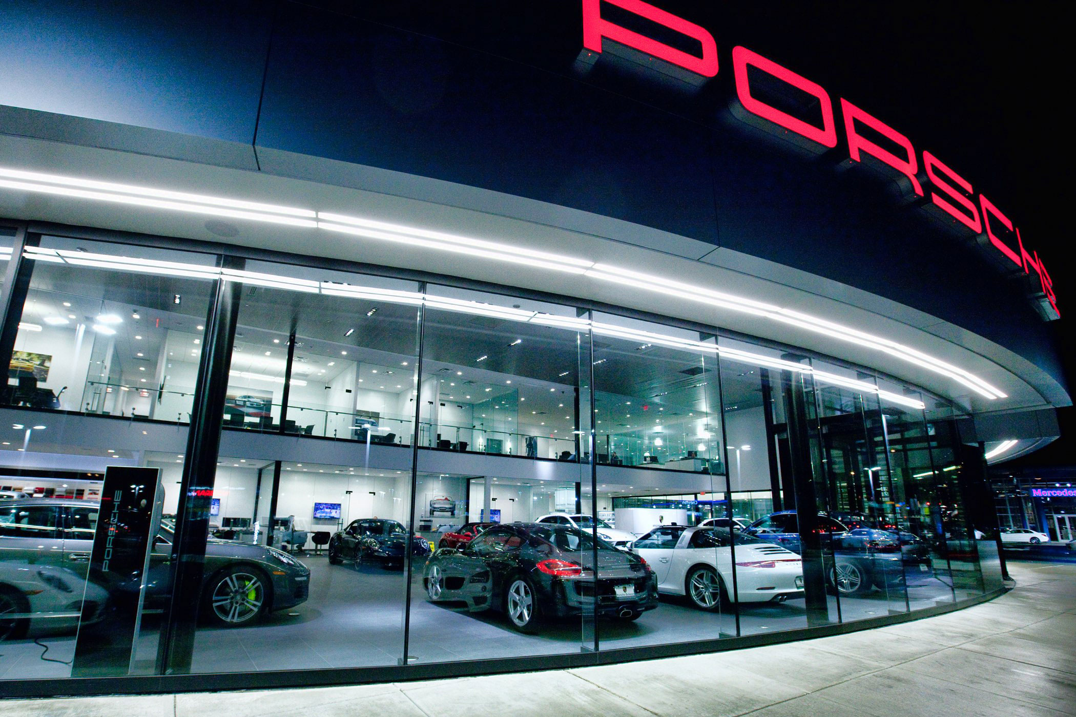Studio Lux Lighting Porsche Barrier